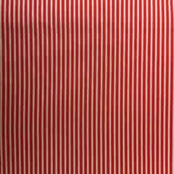 Tissu Popeline rayé Rouge