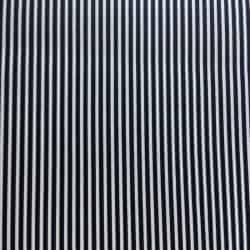Tissu Popeline rayé Marine x10cm