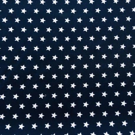 Tissu Popeline Etoile Marine x10cm