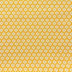 Tissu Popeline Fleur Jaune x10cm