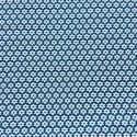 Tissu Popeline Fleur Bleu Pétrole x10cm