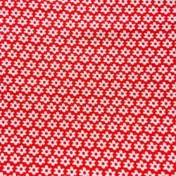 Tissu Popeline Fleur Rouge x10cm