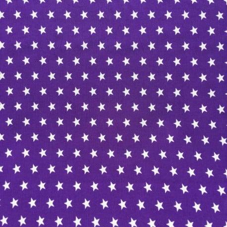Tissu Popeline Etoile Mauve x10cm