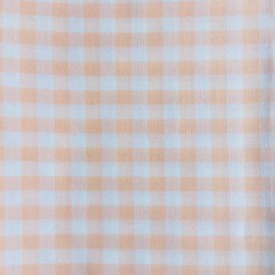 Tissu Vichy Carreaux Saumon x10cm