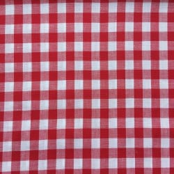 Tissu Vichy Carreaux Rouge x10cm
