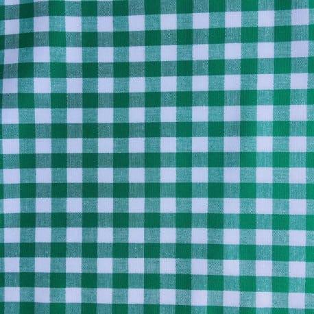 Tissu Vichy Carreaux Vert  x10cm