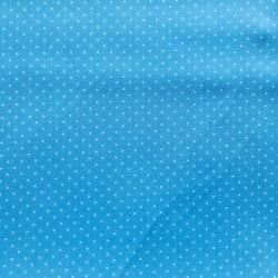 Tissu Popeline Pois Bleu Clair  x10cm