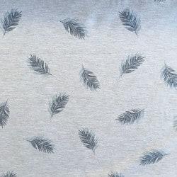 Jersey Feuille Bleu x10cm