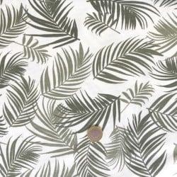 Tissu Canvas Feuillage Kaki x10cm