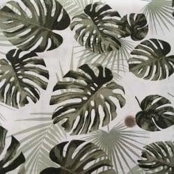 Tissu Canvas Montsera Kaki x10cm