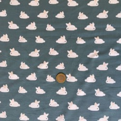 Jersey Lapins Bleu Gris x10cm