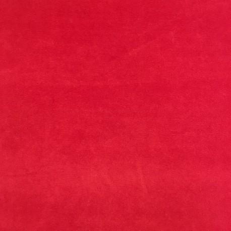 Tissu Velours Nicky Rouge x10cm