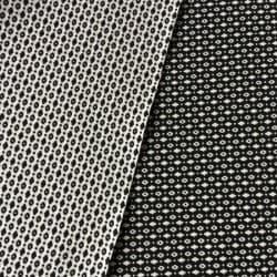 Tissu réversible Eye Noir x10cm