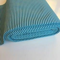 Bord Côte Rayé Bleu Turquoise Pétrole x10cm