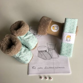 Kit à coudre Chaussons Mint Taille 0-6mois