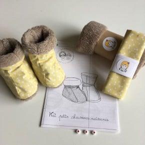 Kit à coudre Chaussons jaune Taille 0-6mois