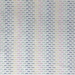 Tissu Percale Moustache Pastel x10cm