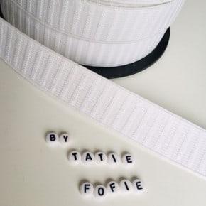 Elastique Monte Jupe Blanc 25mm