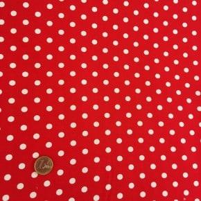 Tissu Popeline Pois Rouge  x10cm