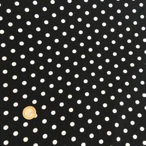 Tissu Popeline Pois Noir  x10cm