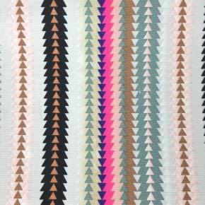 Tissu Canvas Multicolore rayures Fluo x10cm