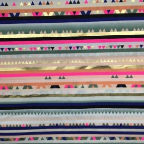 Tissu Rayé Doré  Alpaca Collection x10cm