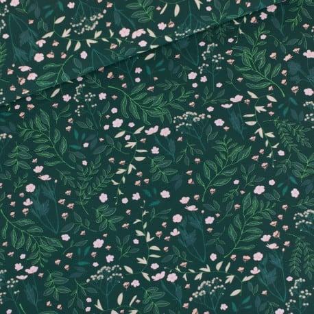 Jersey French Terry Flower Garden vert Foncé See You At Six x10cm