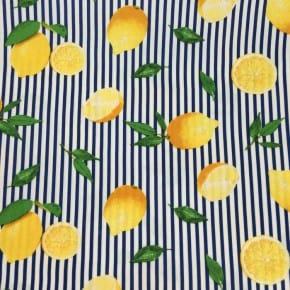 Tissu Viscose imprimé Citron x10cm
