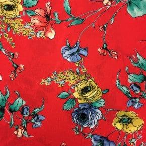 Tissu Crêpe Barbara Rouge x10cm