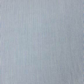 Tissu Viscose Lignée Bleu et Blanc x 10cm