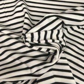 Jersey  Rayé Noir et Blanc Lurex x 10cm