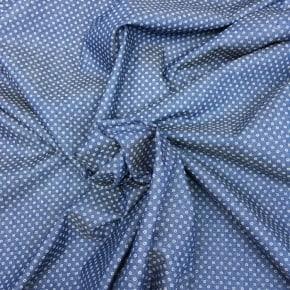 Tissu Chambrai de Coton Pois x 10cm