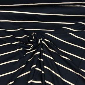 Jersey  Rayé Marine et Blanc  x 10cm