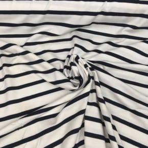 Jersey  Rayé Blanc et Marine  x 10cm