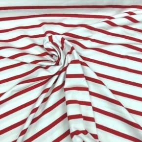 Jersey  Rayé Rouge et Blanc  x 10cm