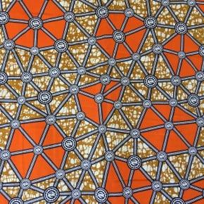 Tissu Wax Jahia x 10cm