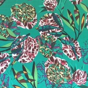 Tissu Viscose Jungle Vert x10cm