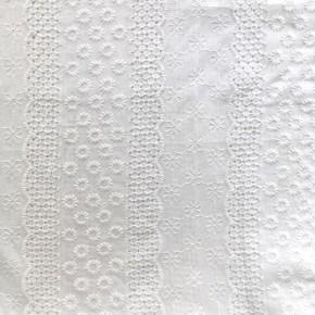 Tissu Coton Broderie Anglaise Blanc Anae  x10cm