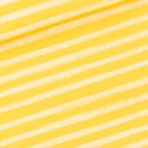 Jersey French Terry Chalk Stripes Jaune See You At Six x10cm