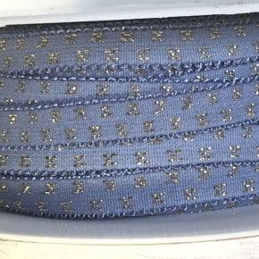 Elastique bleu croix Lurex x 50cm