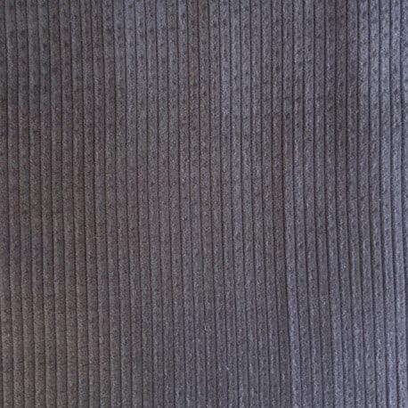 Tissu Velours Cotelé coton Gris x10cm