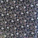 Tissu Viscose Fleurs Navy x10cm