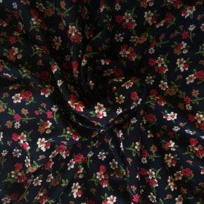 Tissu Jersey Viscose Anaël Noir x10cm