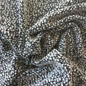 Tissu Jersey Tricot Blanc et Noir x10cm