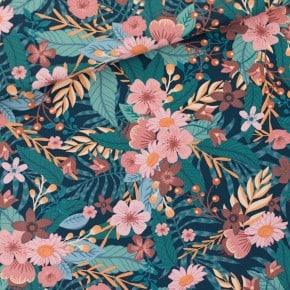 Toile de Coton Bouquet Flowers See You At Six x10cm