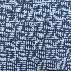 Tissu Coton Bio Monaluna Journey Bleu x 10cm