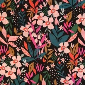 Tissu Dashwood Soirée Noir x 10cm