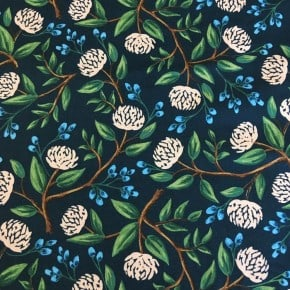 Tissu Coton Cotton+Steel Peonies Navy x10cm