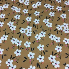 Tissu Dashwood Soirée Marron x 10cm