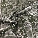 Tissu Viscose et Lin Safari Morning Kaki x10cm